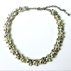 Silver Ivy Leaf Necklace Vintage